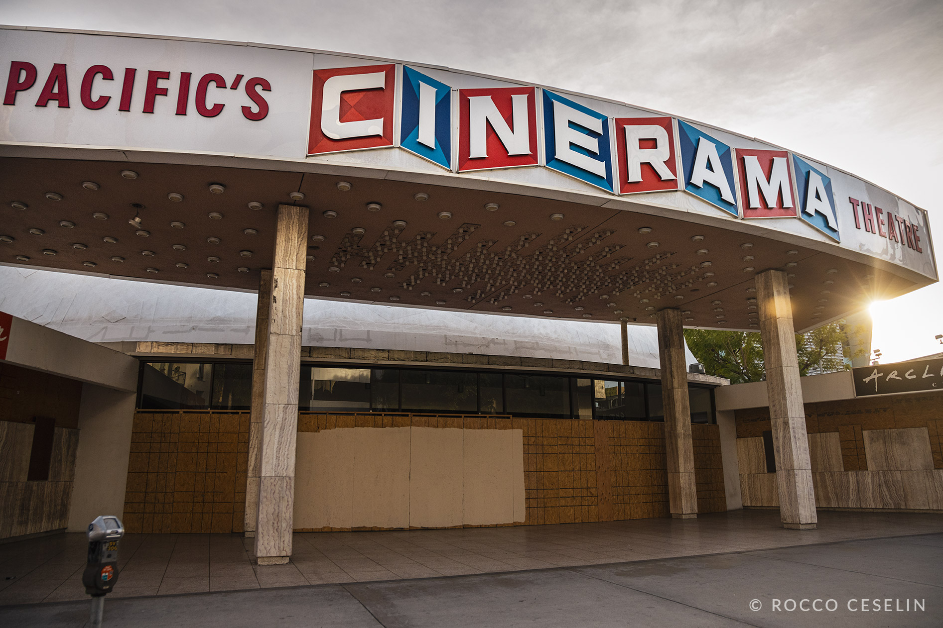 Pacific Cinerama Hollywood with Barricades