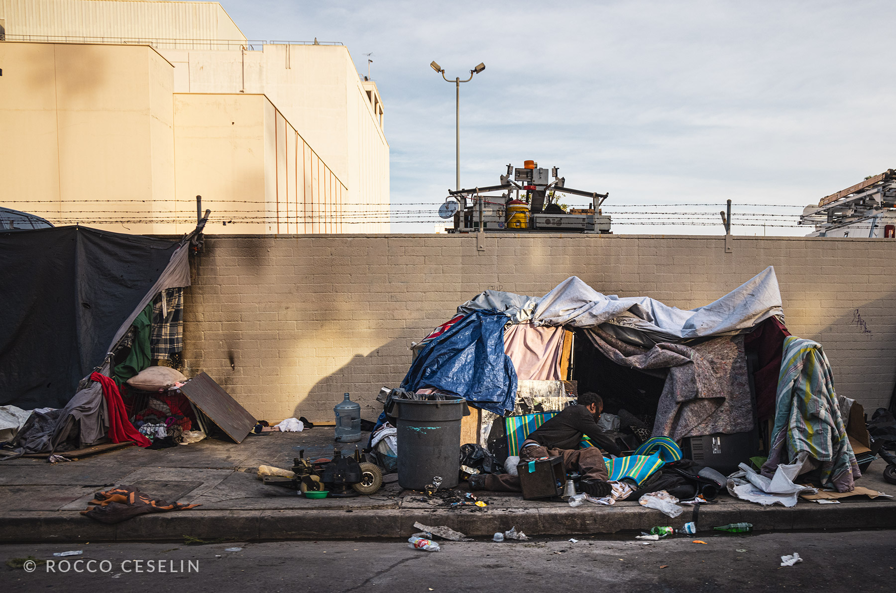 Side streets in Hollywood. Decadence and poverty