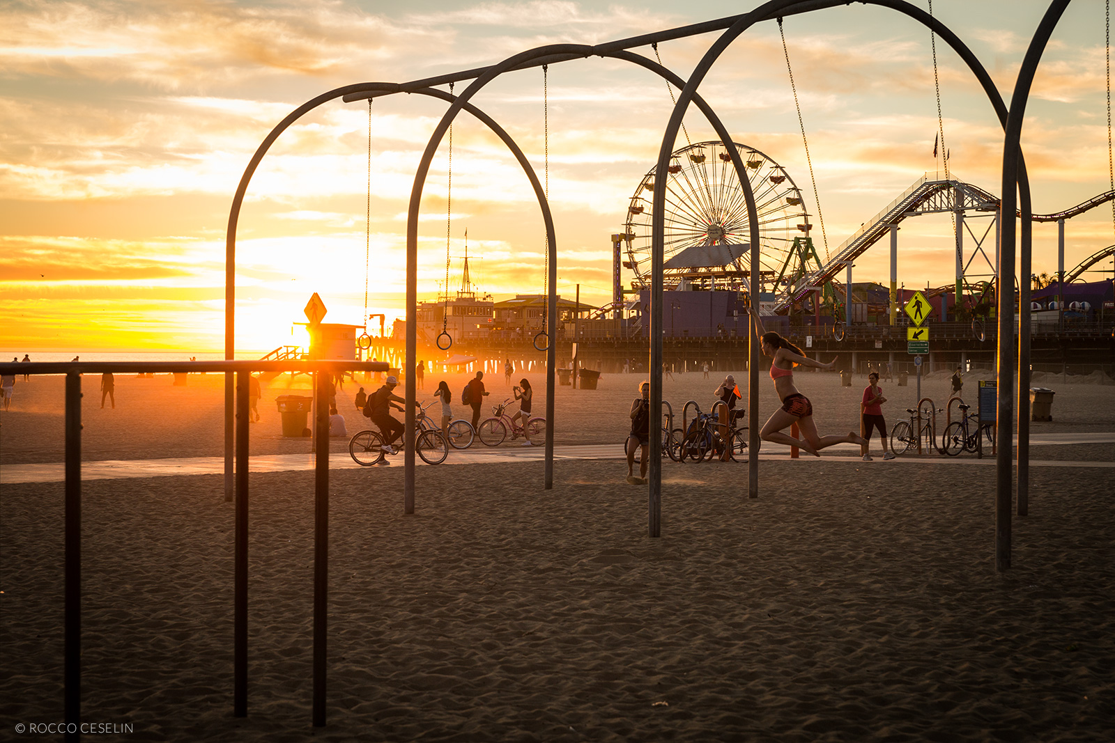 Santa Monica Pier at Sunset workout