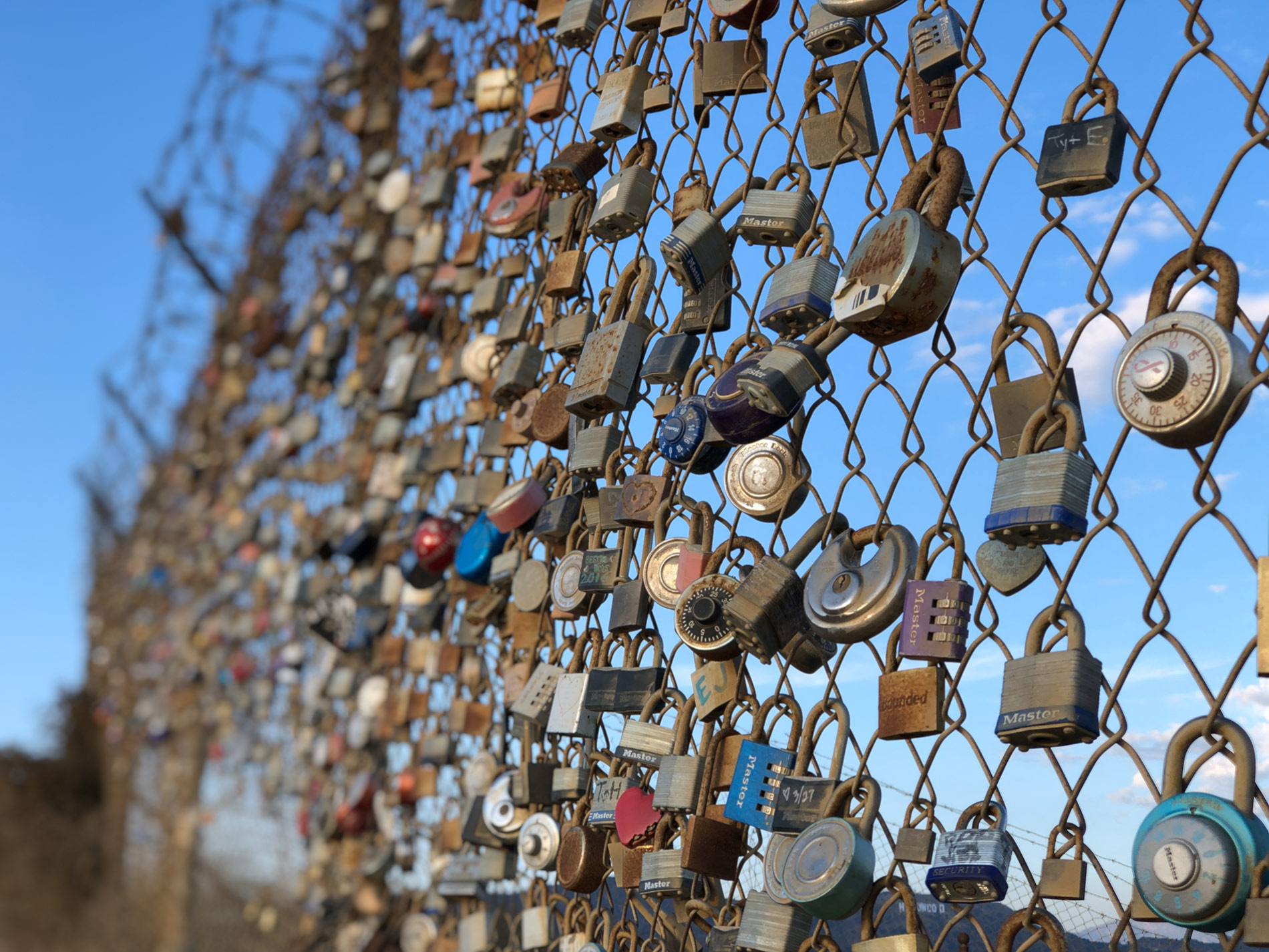 Love Locks on Runyon Canyon