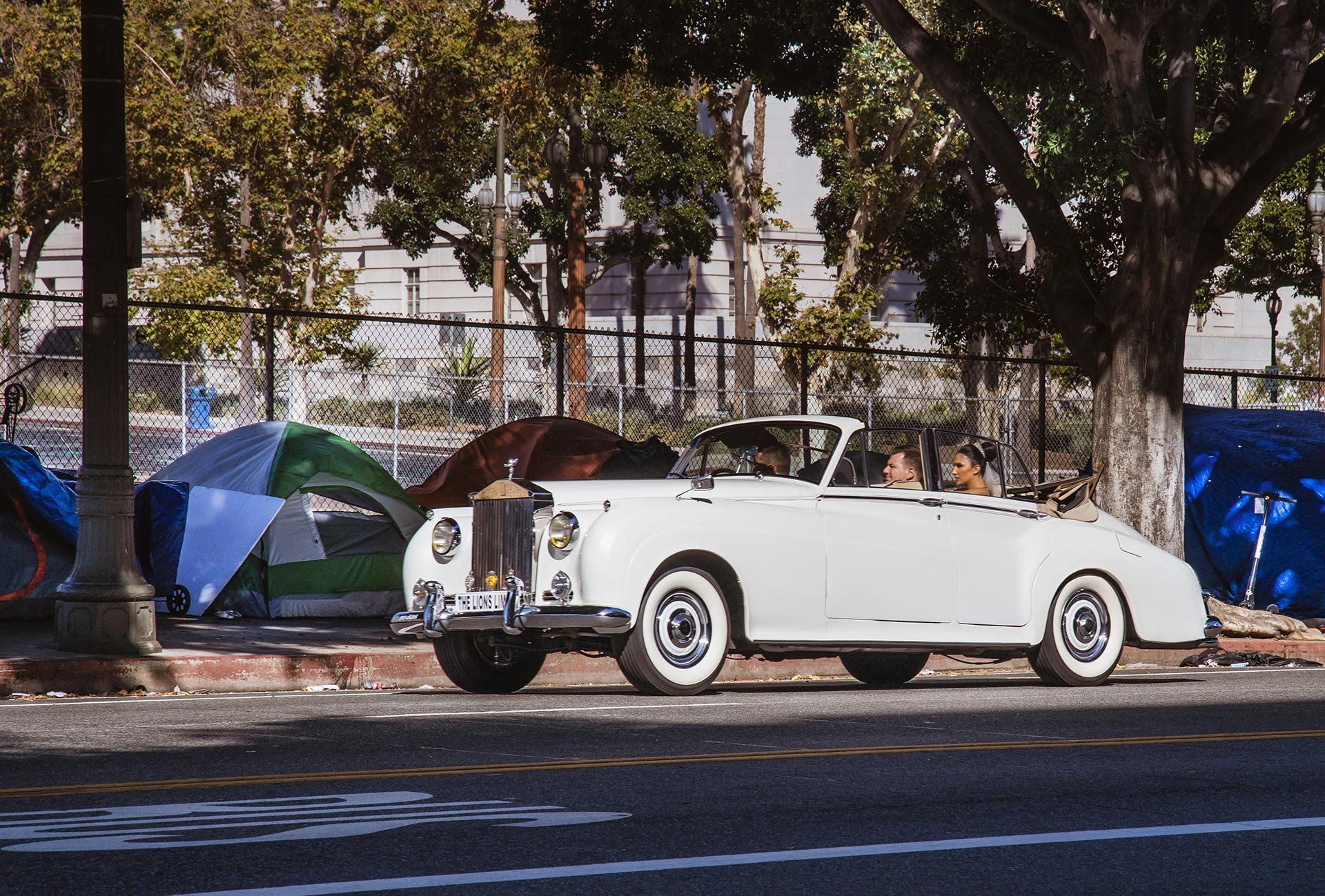 Vintage Rolls Royce in Downtown Los Angeles