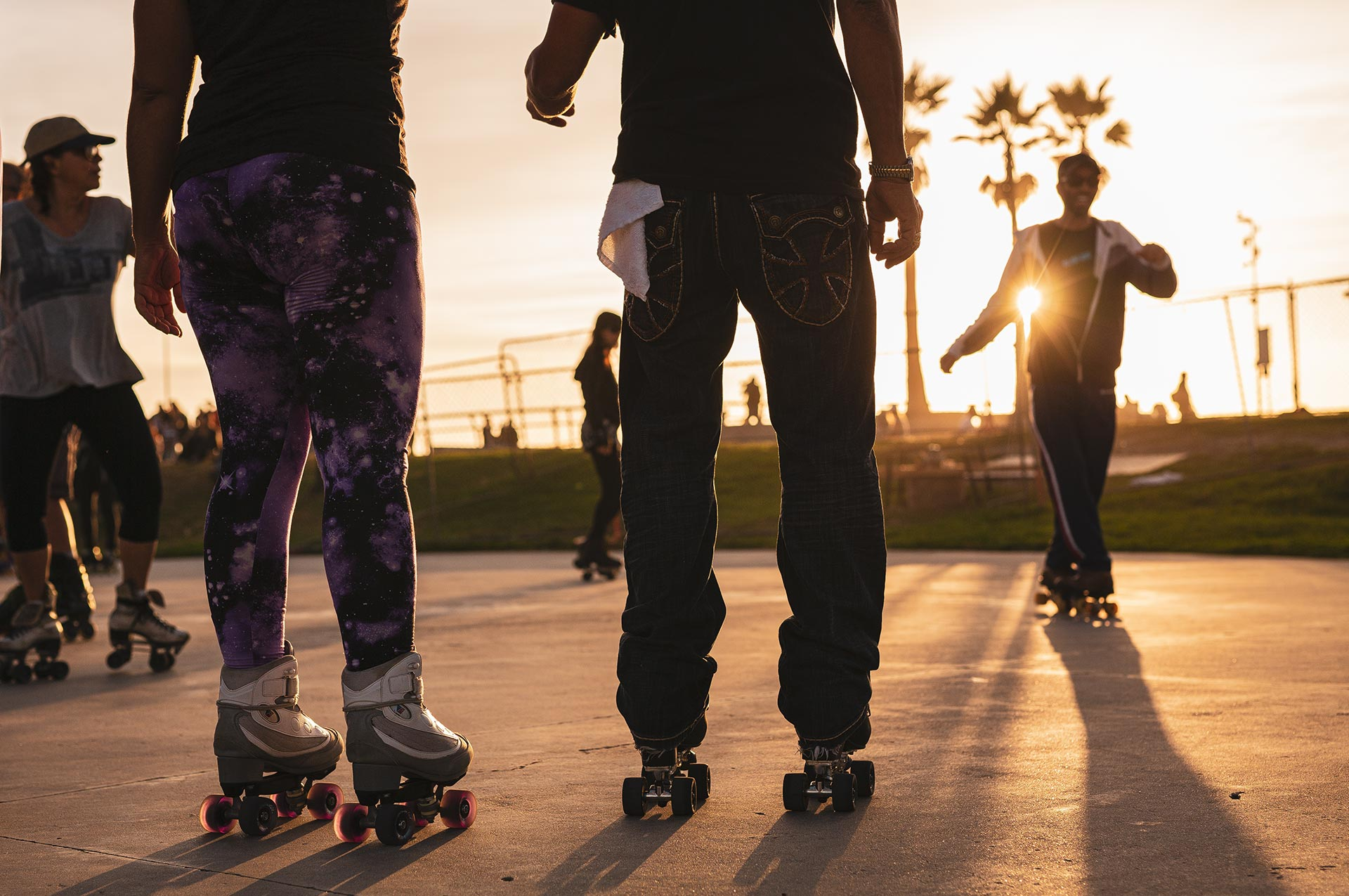 Roller Skating in Venice Beach Boardwalk